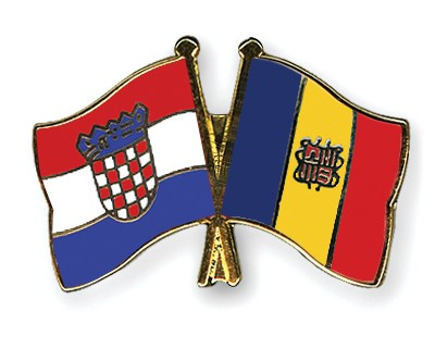 Crossed Flag Pins Croatia-Andorra