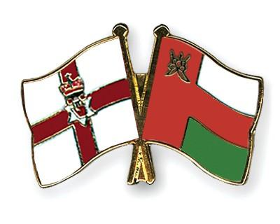 Crossed Flag Pins Northern-Ireland-Oman