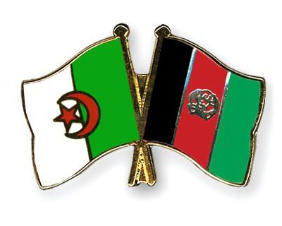 Crossed Flag Pins Algeria-Afghanistan