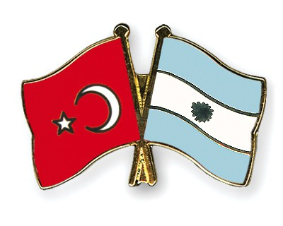 Crossed Flag Pins Turkey-Argentina
