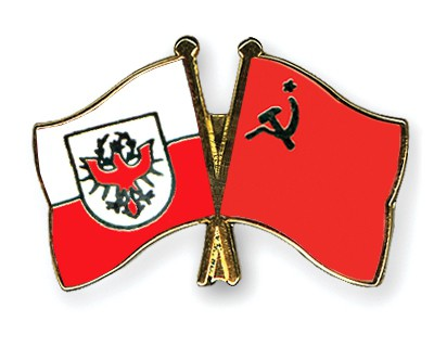 Crossed Flag Pins Tyrol-USSR