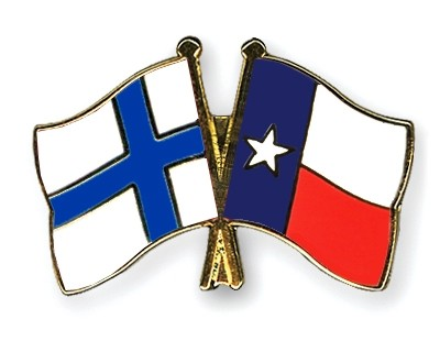 Special Offer Crossed Flag Pins Finland-Texas