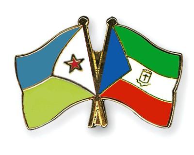 Crossed Flag Pins Djibouti-Equatorial-Guinea
