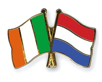 Special Offer Crossed Flag Pins Ireland-Netherlands