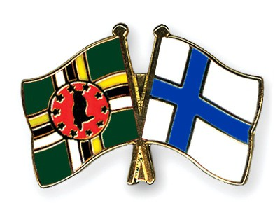 Crossed Flag Pins Dominica-Finland