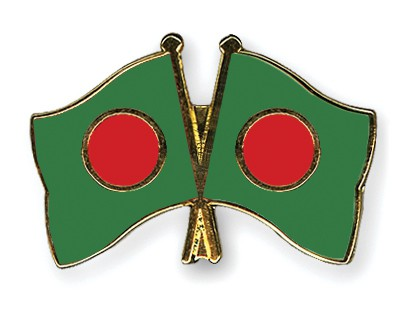 Crossed Flag Pins Bangladesh-Bangladesh