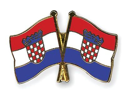Crossed Flag Pins Croatia-Croatia