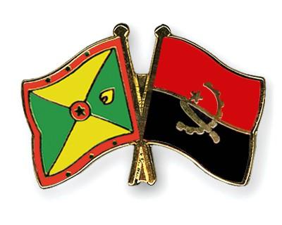 Crossed Flag Pins Grenada-Angola