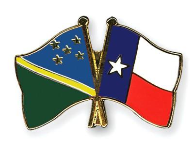 Crossed Flag Pins Solomon-Islands-Texas